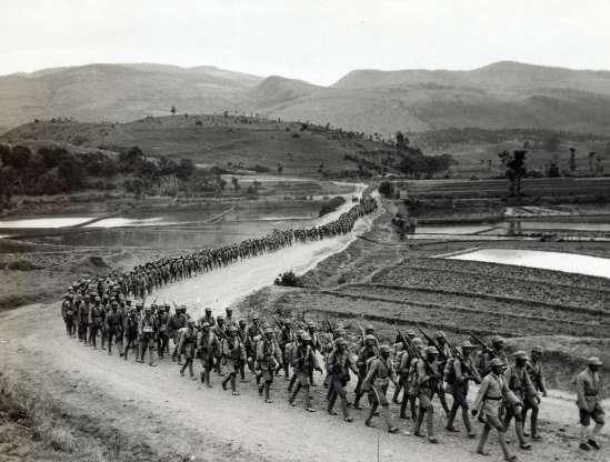 Chińscy żołnierze w czasie II wojny światowej w 1943 roku.