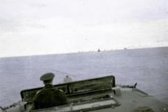 ORP Orzeł podczas wykonywania swojego pierwszego zadania pod brytyjskimi rozkazami - eskorta konwoju HN-6 do norweskiego Bergen, 29 grudnia 1939 r